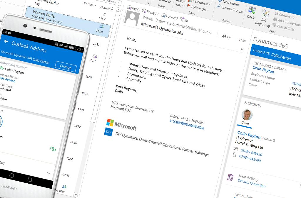 Как синхронизировать Dynamics 365 и сервис Outlook?