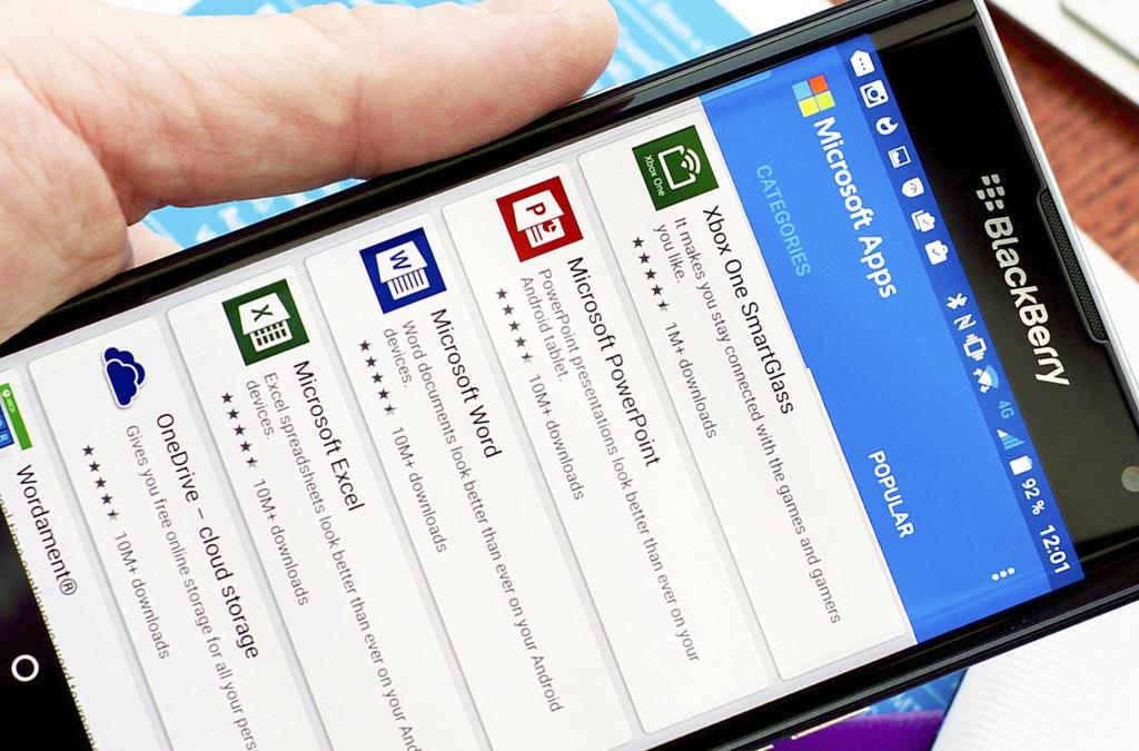 Какие особенности имеет приложение MS Office для смартфонов?