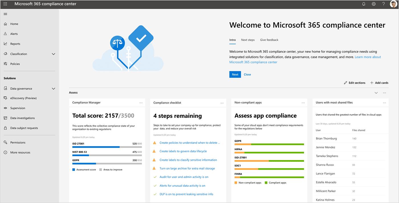 Новые предложения по безопасности и их соответствие Microsoft 365