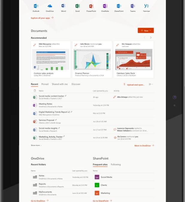 Начало работы на Office.com с инструментами для повышения производительности