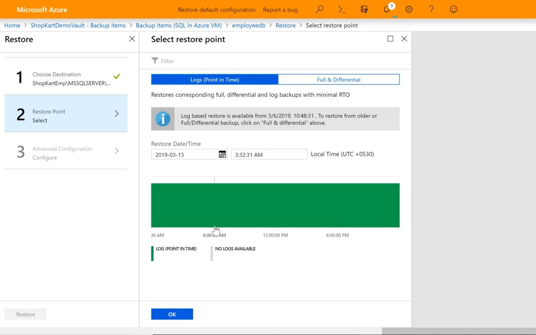 Доступно резервное копирование Azure для SQL Server на ВМ
