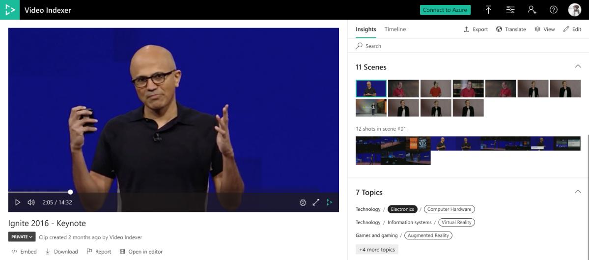 Медиаслужбы Azure: последние обновления Video Indexer