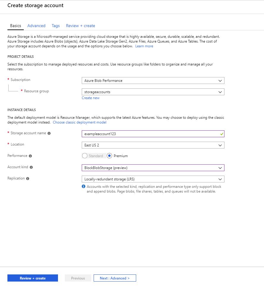 Azure Premium Block Blob Storage теперь в общем доступе