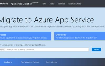 Знакомство с помощником миграции службы приложений ASP.NET
