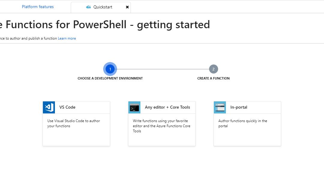 Бессерверная автоматизация с использованием предварительного просмотра PowerShell