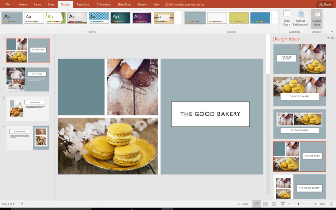 Создание шаблонов Designer в PowerPoint