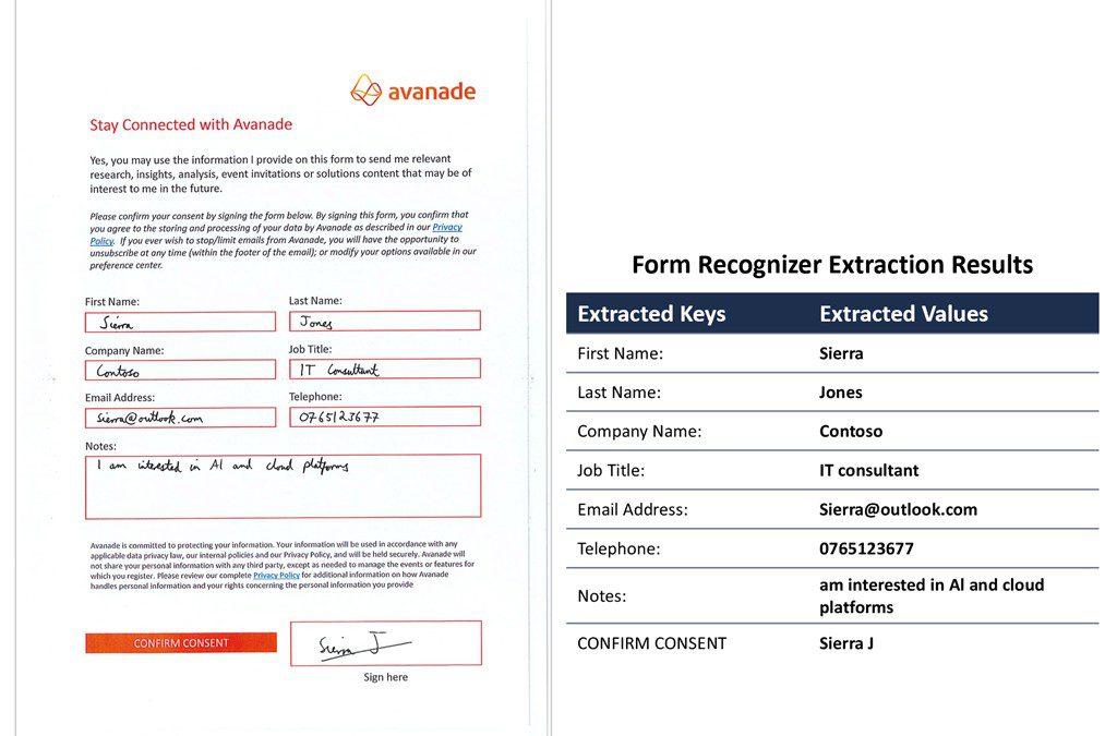 Помимо печатной формы: получение информации из документов с помощью Form Recognizer