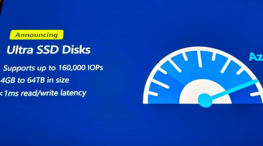Состоялся запуск Azure Ultra Disk Storage