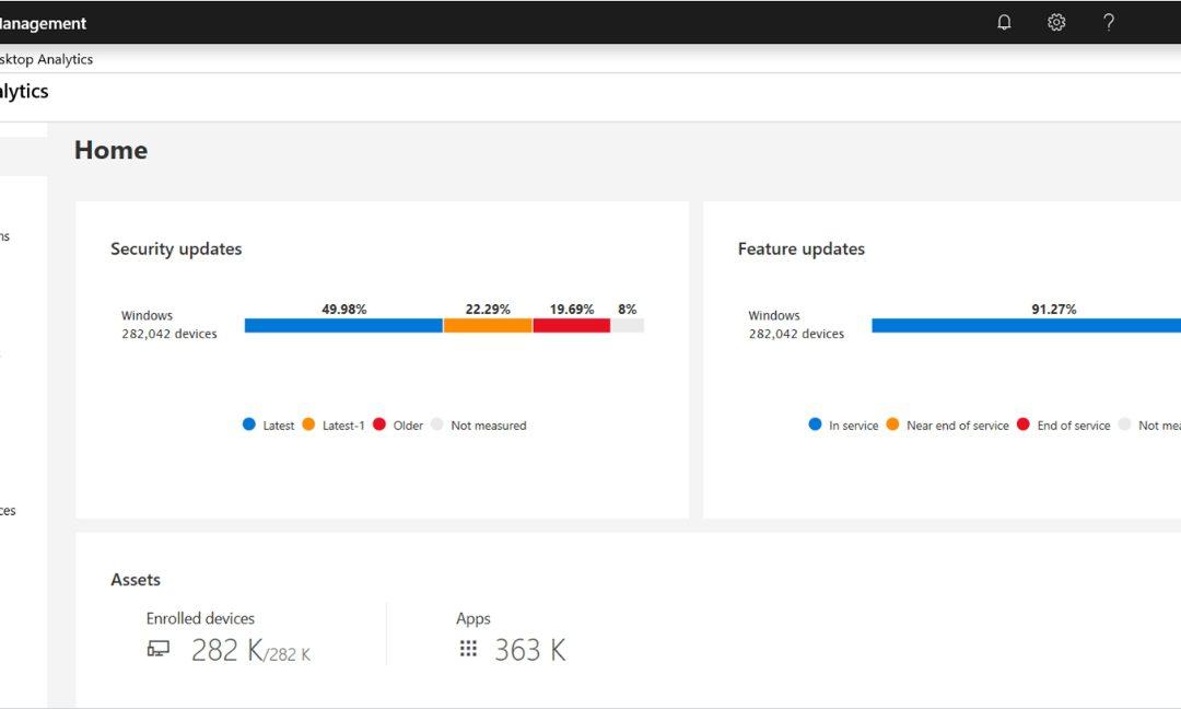 Служба Desktop Analytics скоро станет общедоступной