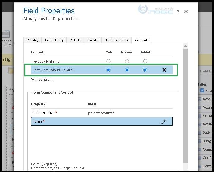 Использование элемента управления компонентом формы для редактирования информации о связанных объектах в Dynamics 365 CRM