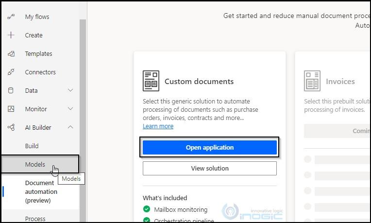 Использование модели обработки форм AI Builder в приложении Microsoft Document Automation
