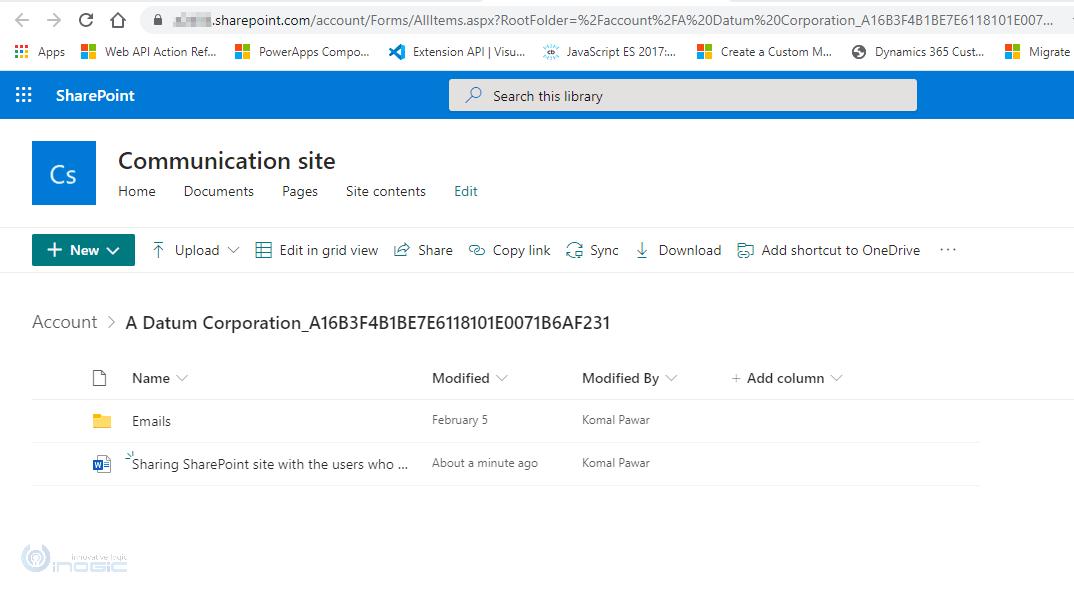 Используйте кнопку «Открыть папку» в Dynamics 365 CRM, чтобы перейти на сайт SharePoint – управление документами становится еще более гибким!